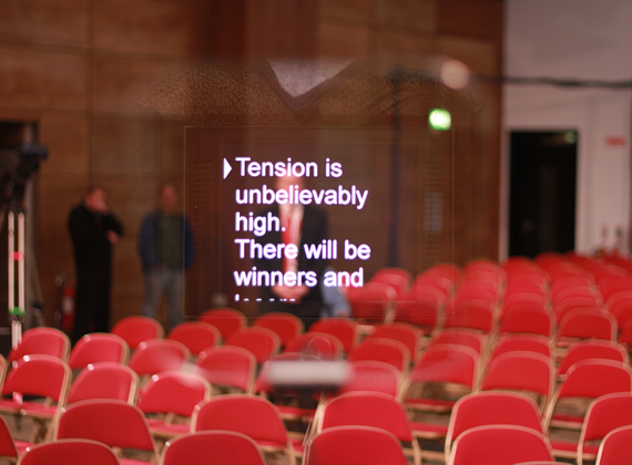 Image of a Conference Podium Autocue